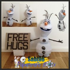 Disney: Frozen - Olaf the Snowman Ver.3 Free Papercraft Download - http://www.papercraftsquare.com/disney-frozen-olaf-snowman-ver-3-free-papercraft-download.html