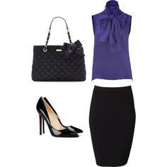 Pencil skirt, created by jkirchner on Polyvore