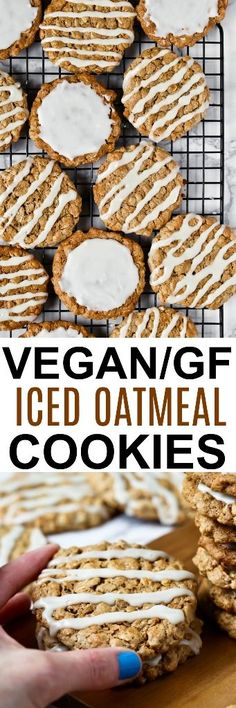 The absolutely most delicious OLD-FASHIONED ICED OATMEAL COOKIES made vegan, gluten-free, oil-free and just 8 EASY ingredients! Nostalgia at it's best! Dairy-free cookies that will blow away you and your guests! Made with oats, cashew butter and maple syrup. via @thevegan8