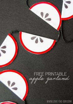FREE Printable Apple Banner by MichaelsMakers Love The Day
