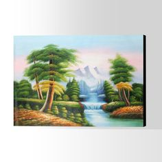 Oil Painting Oil Painting On Canvas, Hand Painted, Landscape, Art, Scenery, Landscape Paintings, Kunst, Corner Landscaping, Art Education