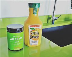 Good morning  from our Greener Greens ! What do you mix yours with? #TeamOrange or #TeamBerry?