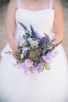 lavender wedding bouquet, ivory white bridal dresses, outdoor wedding ideas #2014 Valentines day wedding #Summer wedding ideas www.dreamyweddingideas.com