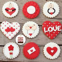 ideas for cupcakes decoration valentine holidays Valentines Cakes And Cupcakes, Holiday Cupcakes, Valentines Day Cookies, Valentines Day Desserts, Valentine Cookies, Fun Cupcakes, Cupcake Cakes, Fondant Cookies, Fondant Toppers