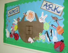 idea for amazing animals bulletin board...I think I can make that ark. :)