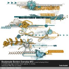 Readymade Borders: Everyday No. 03- Studio Double-D Elements- EL636875- DesignerDigitals