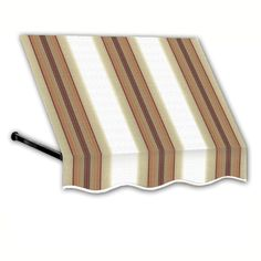 AWNTECH 4 ft. Dallas Retro Window/Entry Awning (44 in. H x 48 in. D) in