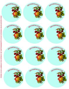 canning labels for jam and vegetables