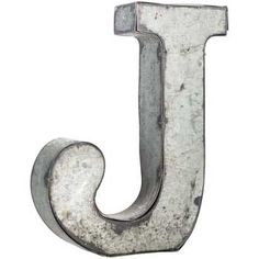 Large Metal Letter J J Large Galvanized Metal Letter  Family Room Accessories