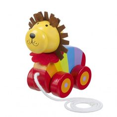 This adorable colourful Pull Along Lion makes a fab gift for girls age 1. Great to encourage them to run around the house.
