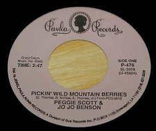 Peggy Scott / Jo Jo Benson 45 Pickin' Wild Mountain Berries   PAULA reissue  EX