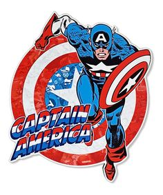 Marvel Captain America Die-Cut Wall Art #zulily #zulilyfinds