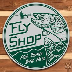 New Fly Shop, Wall Sign