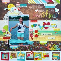 Simple Stories - Good Day Sunshine - Layout created by Lisa Swift Simple Stories Get this hot new line at allscrapbooksteals.com 40% off Shipping NOW!