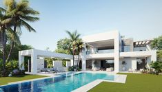 Beautiful gardens, palm trees and private outdoor poor #luxury #villa #marbella #costadelsol #spain #sale