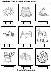 Summer downloads - Miss Sanne how many syllables