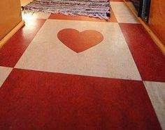 Red and white floors