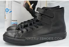 http://www.nikeriftshoes.com/all-star-full-black-leather-converse-double-velcro-chuck-taylor-high-shoes-for-sale-jijas.html ALL STAR FULL BLACK LEATHER CONVERSE DOUBLE VELCRO CHUCK TAYLOR HIGH SHOES SUPER DEALS FPFJX Only $59.00 , Free Shipping!
