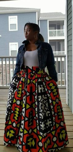 Items similar to African Print Maxi Skirt, African Skirt, Maxi Skirt, Ankara Skirt on Etsy : African Print Maxi Skirt African Skirt Maxi by MyStyleByLSmith Ankara Rock, Ankara Skirt, African Skirt, African Wear, African Attire, African Outfits, African Style, African Fashion Designers, African Inspired Fashion