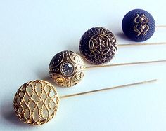 Hijab Pin Set - Vintage Hat pins, Hijab Pins