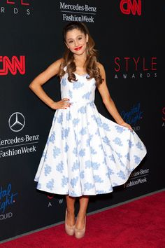 Ariana Grande long dresses are also cool.