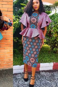 Beautiful and Latest Ankara Short Skirt And Blouse Styles in 2019 African Print Skirt, African Print Dresses, African Print Fashion, Africa Fashion, Latest African Fashion Dresses, African Dresses For Women, African Attire, African Outfits, African Traditional Dresses