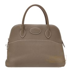 Hermes Bolide bag 31 Etoupe grey Clemence leather Silver hardware