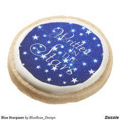 Blue Stargazer Round Shortbread Cookie Shortbread Cookies, Oreo Cookies, Square Cookies, Meringue Powder, Cookie Gifts, Chocolate Covered Oreos, Stargazer, Cookies Ingredients, Corn Syrup