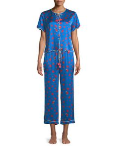 Beatrice+Thief+of+Hearts-Print+Lounge+Top+and+Matching+Items+by+Morgan+Lane+at+Neiman+Marcus.
