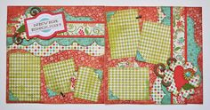 Two Page Layouts - Kiwi Lane Designs Scrapbook Patterns, Kids Scrapbook, Scrapbook Designs, Wedding Scrapbook, Disney Scrapbook, Scrapbook Sketches, Scrapbook Page Layouts, Scrapbook Paper Crafts, Scrapbook Cards
