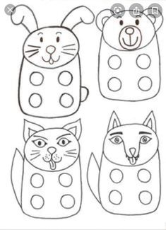 Coloring Pages For Kids, Adult Coloring, Diy Paper, Paper Crafts, Finger Puppet Patterns, Sock Puppets, Stencil Templates, Bunny Crafts, Felt Patterns
