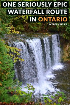 Self-proclaimed waterfall addict? Click now because this is the only guide you'll need to chase some Grey County waterfalls! Includes map, tips & more. Oh The Places You'll Go, Places To Visit, Visit Canada, Canada Eh, Ontario Travel, East Coast Road Trip, Waterfall Hikes, Travel Oklahoma, New York Travel