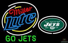 Miller Lite New York Jets Go Jets Neon Sign NFL Teams Neon Light