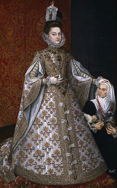 Isabel Clara Eugenia with Magdalena Luiz  ca. 1586  Coello studio