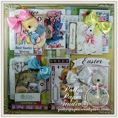 Retro Easter Creativity Kit (2015)  59 piece Paper & Images by PollysPaper on Etsy