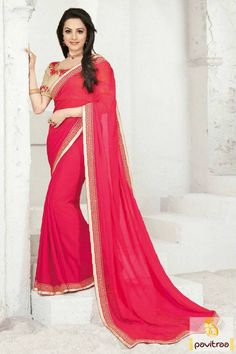 Attractive TV actress Shagun special red pink party wear saree with embroidered blouse. It is bedecked with lace patti on full saree with perfect for diwali. http://www.pavitraa.in/store/party-wear-saree/ #partywearsaree, #designersaree, #festivalsaree, #saree, #designerblouse, #onlinesaree, #emboiderysaree, #bollywoodsaree, #discountoffer, #wholesalesaree