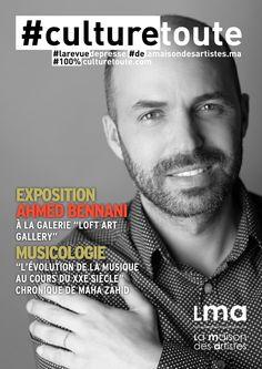 """Culturetoute27  Nous sommes le Dimanche 17 Avril 2016 !  ➡ En couverture. Exposition """" Ahmed BENNANI, à la galerie Loft ART GALLERY. Cliquez…"""