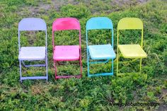 Colorful Metal Chair Makeover