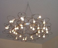bed spring chandelier Repurpose: Get a New Life for a Light Fixture