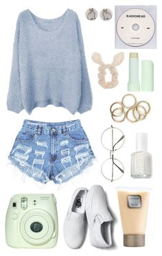 """""""Untitled #48"""" by littlegirlnamednobody ❤ liked on Polyvore featuring Levi's, Wet Seal, Vans, KEEP ME, Eos, Laura Mercier, Essie, women's clothing, women and female"""