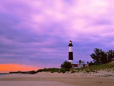 Big Sable Point Light House. Ludington, Michigan.  I love Lake Michigan.  Near our family lake cottage in northern Michigan.