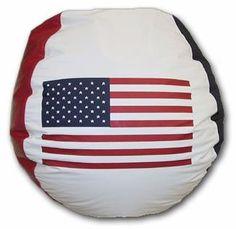 USA Flag Vinyl Bean Bag Chair Bean Bag Usa, Cool Bean Bags, Bean Chair, Child Safety, Usa Flag, Pear Shaped, Strength, Graphics, Ink