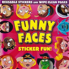 #Funny faces sticker #activity and wipe #clean book - girls,  View more on the LINK: 	http://www.zeppy.io/product/gb/2/301919124281/
