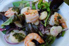 Preface Check out this healthy vegetable grilling delight, Rosemary Shrimp