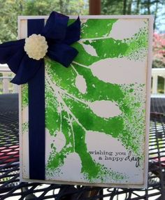 Spray the back of a stencil instead of through the stencil Memory Box stencil- Leafy Stems 88545