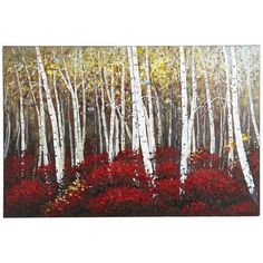 Red Birch Trees Art at Pier One $149 for livingroom! This is it!