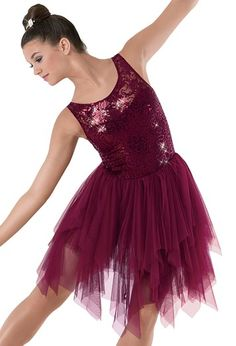 Weissman™ | Sequin Lace Tiered Soft Tulle Dress For Ballet 2/3, Wednesdays (3 differenct colors, blue, red, and gold)