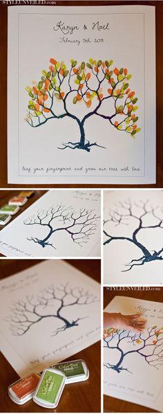 Free Wedding Fingerprint Tree