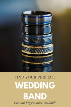 Black tungsten wedding bands that you'll love. Custom engravings available. Black Tungsten Rings, Tungsten Wedding Rings, Jewelry Ideas, Jewelry Art, Burgundy Suit, Short Men, Billy Idol, Novelty Items, Pretty Rings
