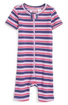 Tucker + Tate Stripe Fitted One-Piece Pajamas (Baby Girls)